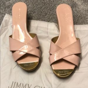 Jimmy Choo 💯authentic pink pana espadrilles.